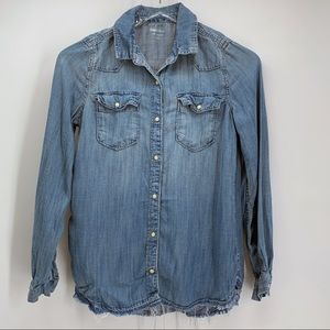 GAP Kids Long-Sleeved Denim Button Shirt Sz xxl